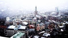 A beautiful view of snowy Riga.