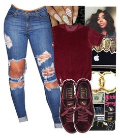 """""""Still think about you"""" by fashionweeklyneeds ❤ liked on Polyvore featuring Topshop and Puma"""