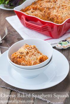 Cheesy Baked Spaghetti Squash - Against All Grain