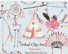 Paquete de imágenes prediseñadas tribal Indio CLIP