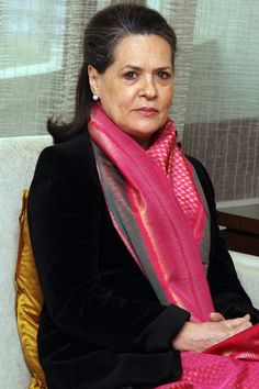 President of the Congress Sonia Gandhi. Today her focus is on passing the Women's Reservation Bill, which seeks to reserve of the seats in lower house of Indian Parliament to women. Female World Leaders, Street Style India, Shopping Queen, Funny Pictures Of Women, Inspirational Leaders, Sonia Gandhi, Equal Rights, Aging Gracefully, Politicians