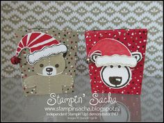 """Stampin 'Up! Autumn-Winter Catalog Sneak Peek # 3 """"Jolly Friends Bundle"""" (Popcorn Box with lid) Christmas Paper Crafts, Stampin Up Christmas, Christmas Tag, Christmas Greeting Cards, Holiday Cards, Fall Cards, Winter Cards, Christmas Cookie Cutters, Christmas Catalogs"""