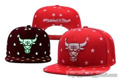 Chicago Bulls Reflective Star Snapback Hats Red