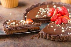 La crostata senza cottura con Nutella e crema al cacao