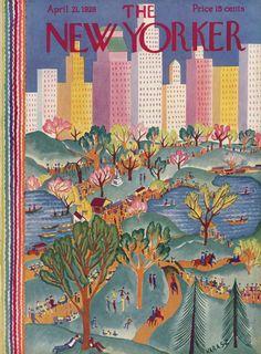 Ilonka Karasz : Cover art for The New Yorker 166 - 21 April 1928