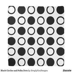 Black Circles and Polka Dots Bandana