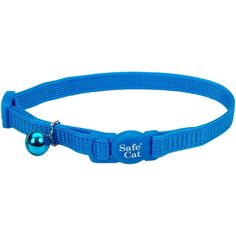 Coastal Pet Products Safe Cat 3/8 Adjustable Snag-Proof Nylon Breakaway Collar-B - Blue Lagoon