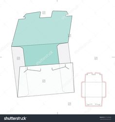 Tooth Lock Envelope With Die Cut Template Stock Vector Illustration 371676658 : Shutterstock