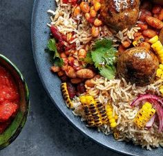 Mexican Meatball Bowl