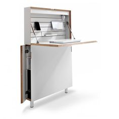 slim workstation. small house, small home, tiny house, tiny home, small spaces, small space living, space-saving, compact, folding, fold-down, drop-down, drop-leaf, table