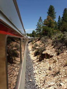 Take the train into the Grand Canyon from Williams, Arizona. Williams Arizona, Grand Canyon Railway, Great Places, Railroad Tracks, Destinations, Bucket, Country Roads, Train, Usa