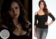 The Vampire Diaries: Season 5 Episode 9 Katherine's Black Cutout Top - ShopYourTv