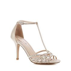 Debut Silver diamond studded sandals | Debenhams