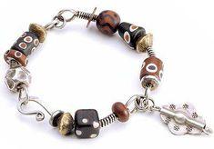 Wire wrapped bangle jewelry