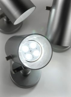 Can Spotlights E Spot Swivel Battery Operated LED White Updated (3 spot lights) $78 / $26 each ( remote control compatible)