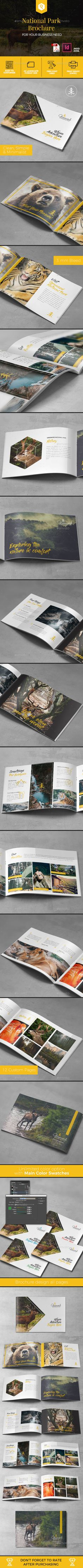 A5 National Park Brochure Template - Corporate Brochures Download here : https://graphicriver.net/item/a5-national-park-brochure-template/19644284?s_rank=109&ref=Al-fatih