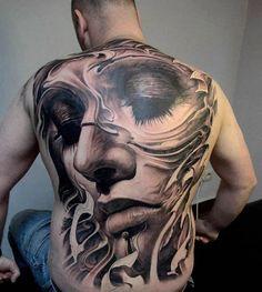 65+ Stunning 3D Full Back Tattoo For Man