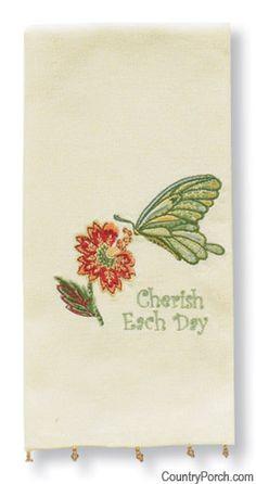 Cherish Each Day Guest Towel