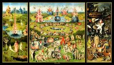 'The garden of earthly delights' by Heironymus Bosch. Mum used to have a print of this that hung in our hallway.
