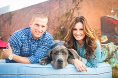 Inspired by This Colorful Urban Engagement…with a Great Dane by Zoom Theory Photography - via inspiredbythis