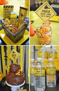 Never realized reeses pieces match the construction party color scheme perfectly 2nd Birthday Boys, 4th Birthday Parties, Birthday Ideas, Birthday Banners, Farm Birthday, Birthday Invitations, 3 Year Old Birthday Party Boy, Birthday Celebration, Construction Birthday Parties