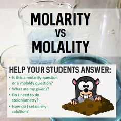 MOLARITY and MOLALITY- A Step-By-Step Student Guide for So