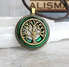 forest green tree of life necklace, mens necklace, mens jewelry, boyfriend gift, celtic necklace, nature necklace, tree jewelry, unique gift by NatureWithYou on Etsy