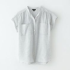 WINONA POPOVER TOP (Striped, cut-on sleeve top, with pockets)