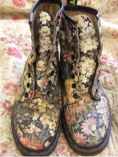 soles with soul...flower doc martens