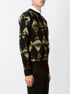 Dior Homme argyle pattern jumper