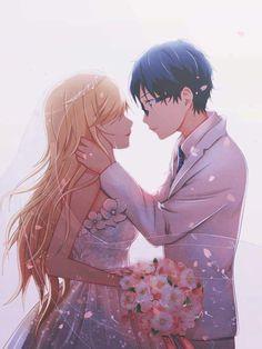 Anime Couples Shigatsu Wa Kimi No Uso No Mirai by Dinocojv on DeviantArt - Kaori Anime, 5 Anime, Anime Girls, Couple Manga, Anime Love Couple, Cute Anime Couples, Anime Cosplay, Mobile Cartoon, Miyazono Kaori