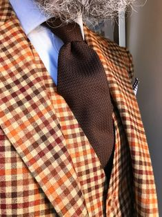 A Source For Mens Clothing & Sartorial Inspiration — olaizola: Look of the day. Food For Eyes, Flannel Suit, Classic Wardrobe, Three Piece Suit, Business Outfits, Wedding Suits, Bridal, Dapper, Bespoke