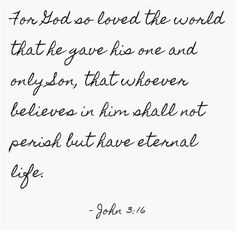 For God so loved the world that he gave his one and only Son that whoever believes in him shall not perish but have eternal life. Amen! www.reachavillage.org