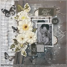Amy's Pretty Papers: January 2016 Kit at ***My Creative Scrapbook*** Layout 1 + Playing at Kaisercraft January challenge Heritage Scrapbooking, Photo Album Scrapbooking, Scrapbook Albums, Scrapbooking Layouts, Scrapbook Background, Paper People, Vintage Scrapbook, General Crafts, Pop Up Cards