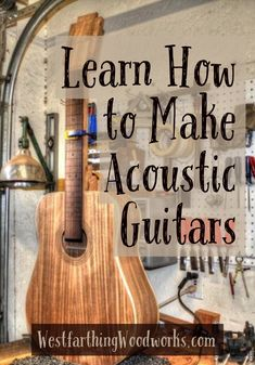 Learn how to make acoustic guitars. This is a fun woodworking project, and it's not as hard as you might think. Happy building.