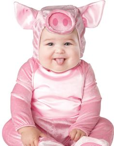 Pink Little Pig Cute Animal Infant Baby Jumpsuit Toddler Kids Costume...This will be miss Carlie :)
