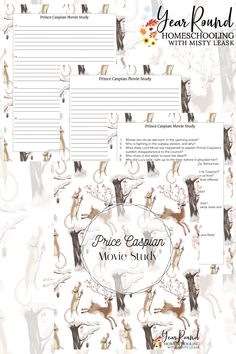 Make it a family movie night as your kids complete this Prince Caspian Movie Study for their homeschool literature class. #ChroniclesofNarnia #TheChroniclesofNarnia #Narnia #MovieStudy #Printable #Homeschool #Homeschooling #YearRoundHomeschooling
