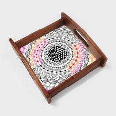 Colourful Geometric Mandala Serving Tray | Artist : Amulya Jayapal | PosterGully