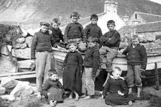 New book challenges St Kilda's 'lost world' tag - BBC News image: Children pose for a photographer on Hirta, the main island of St Kilda #Scotland