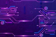 Purple Galaxy Wallpaper, Purple Wallpaper, Futuristic Art, Futuristic Technology, Floral Watercolor Background, Cyber Technology, Cyberpunk, School Murals, Futuristic Background