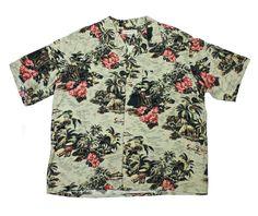 Vintage Banana Republic Rayon Hawaiian Shirt Mens Size XL