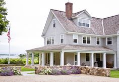 American Shingle Beach House. #ShingleHouse #AmericanHouse #BeachHouse SLC Interiors.
