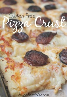 This is our very favorite gluten-free pizza crust recipe. It's so easy! Not to mention delicious.