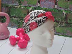 Yoga/Workout Headband Twist Turban Headband by FourHeartsDesigns