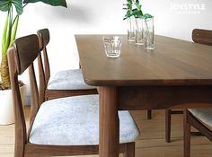 JOYSTYLE interior/商品詳細 幅160cm ウォールナット材 ウォールナット無垢材 天然木 木製 角が丸いやわらかな印象のダイニングテーブル 引き出し付きテーブル ATENE-DT160WN(※チェア別売)