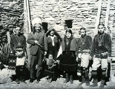 ALBERT EINSTEIN WITH A GROUP OF HOPI , 1922