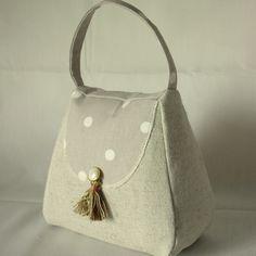 Handbag Door Stop Globaltex Fabric Dotty Taupe