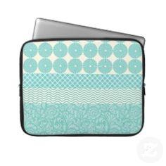 Pretty Pattern Blue Laptop Sleeve #laptop #zazzle