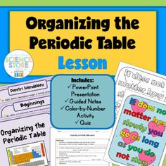 Introduction to the periodic table unit bundle noble gas introduction to the periodic table unit bundle noble gas periodic table and physical science urtaz Image collections