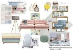 PLANCHE TENDANCE SCANDINAVE Interior Design Blogs, Mood Board Interior, Interior Paint Colors, Paint Colors For Home, Interior Styling, Deco Dyi, Living Room Designs, Living Room Decor, Style Deco